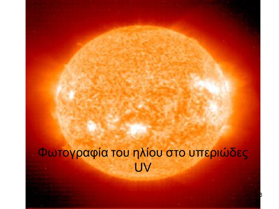 Φωτογραφία του ηλίου στο υπεριώδες UV