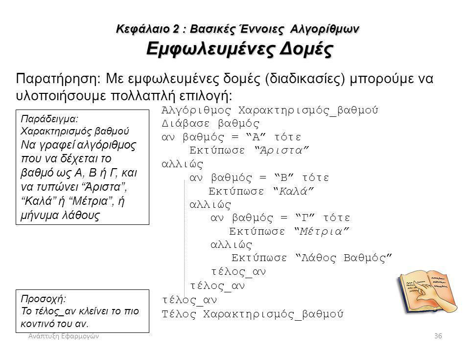 Κεφάλαιο 2 : Βασικές Έννοιες Αλγορίθμων Εμφωλευμένες Δομές