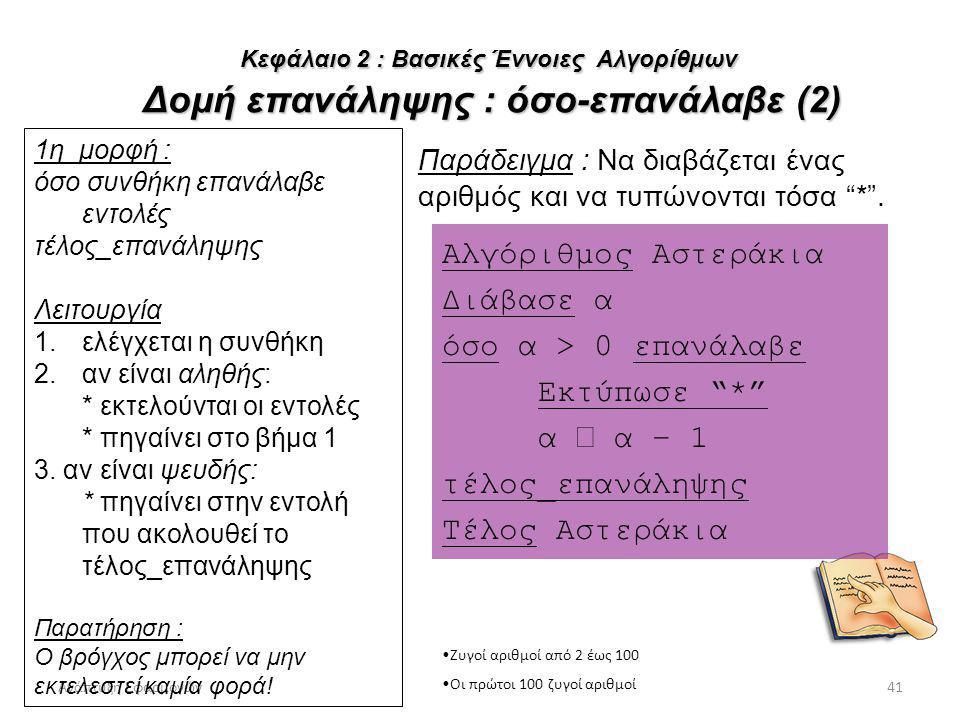 Αλγόριθμος Αστεράκια Διάβασε α όσο α > 0 επανάλαβε Εκτύπωσε *