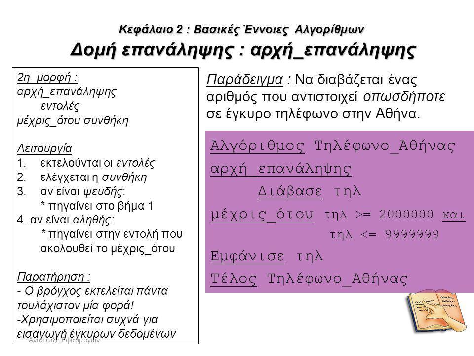 Αλγόριθμος Τηλέφωνο_Αθήνας αρχή_επανάληψης Διάβασε τηλ