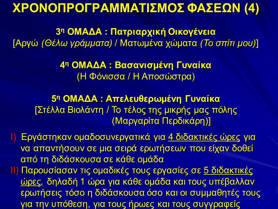 ΧΡΟΝΟΠΡΟΓΡΑΜΜΑΤΙΣΜΟΣ ΦΑΣΕΩΝ (4)