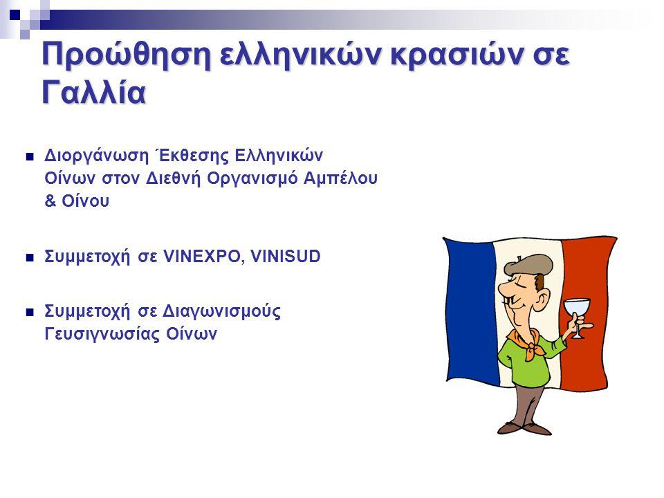 Προώθηση ελληνικών κρασιών σε Γαλλία