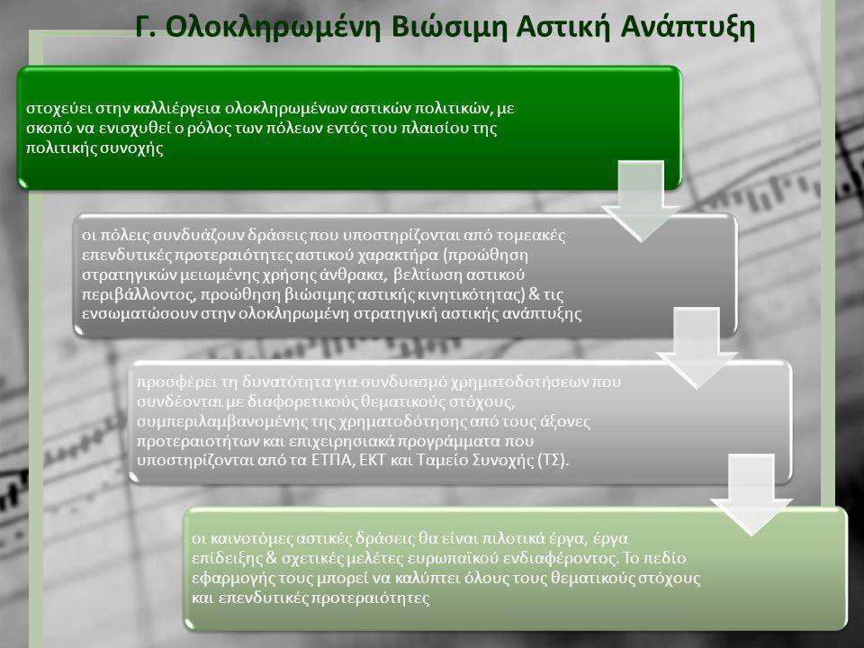 Γ. Ολοκληρωμένη Βιώσιμη Αστική Ανάπτυξη