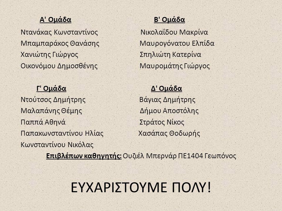 Επιβλέπων καθηγητής: Ουζιέλ Μπερνάρ ΠΕ1404 Γεωπόνος