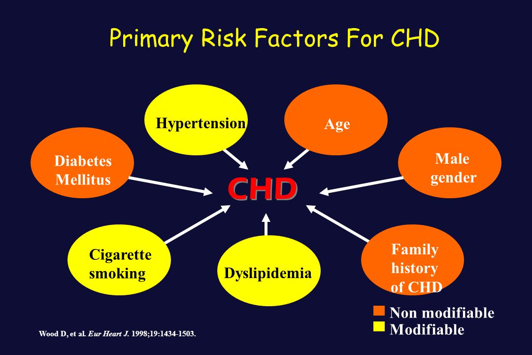 Primary Risk Factors For CHD