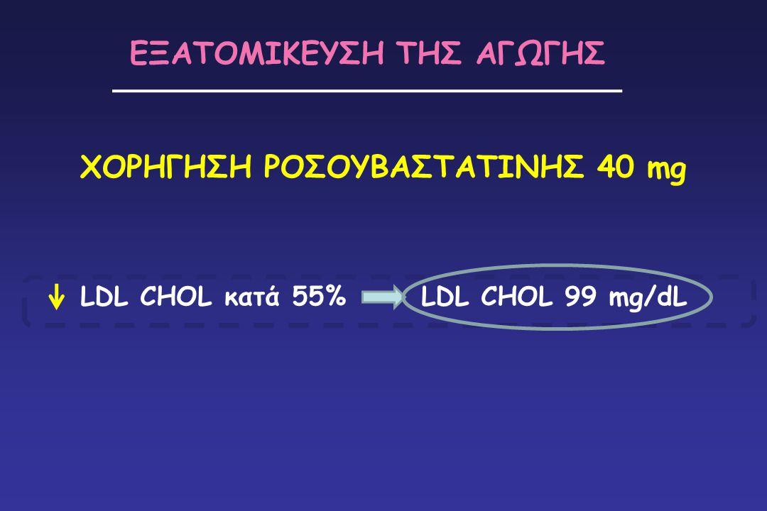 ΧΟΡΗΓΗΣΗ ΡΟΣΟΥΒΑΣΤΑΤΙΝΗΣ 40 mg ΕΞΑΤΟΜΙΚΕΥΣΗ ΤΗΣ ΑΓΩΓΗΣ