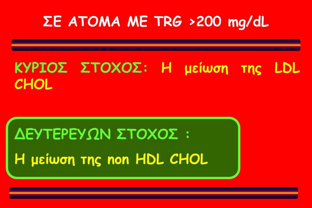 ΣΕ ΑΤΟΜΑ ΜΕ TRG >200 mg/dL