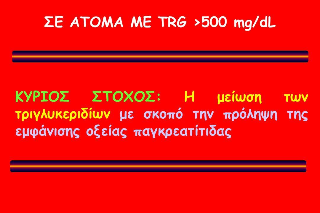 ΣΕ ΑΤΟΜΑ ΜΕ TRG >500 mg/dL