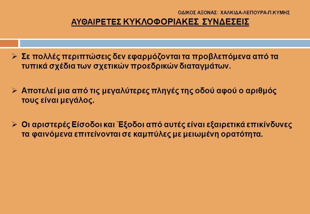 ΟΔΙΚΟΣ ΑΞΟΝΑΣ: ΧΑΛΚΙΔΑ-ΛΕΠΟΥΡΑ-Π