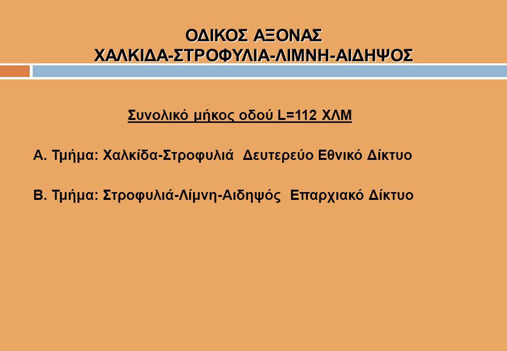 ΟΔΙΚΟΣ ΑΞΟΝΑΣ ΧΑΛΚΙΔΑ-ΣΤΡΟΦΥΛΙΑ-ΛΙΜΝΗ-ΑΙΔΗΨΟΣ