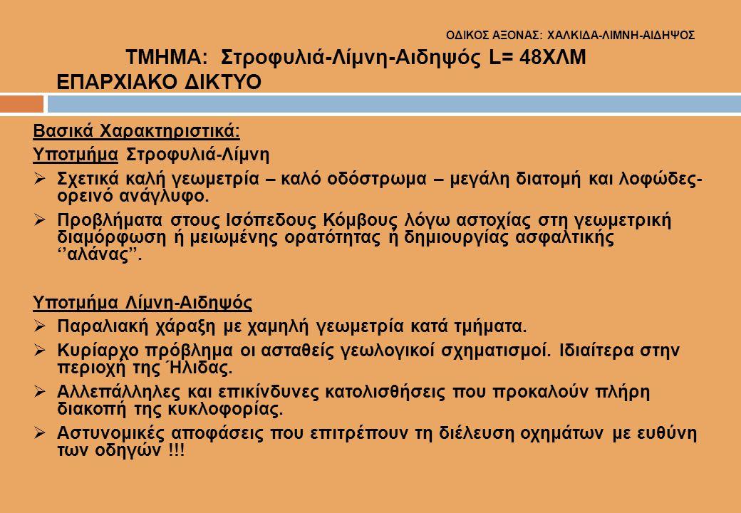 ΟΔΙΚΟΣ ΑΞΟΝΑΣ: ΧΑΛΚΙΔΑ-ΛΙΜΝΗ-ΑΙΔΗΨΟΣ