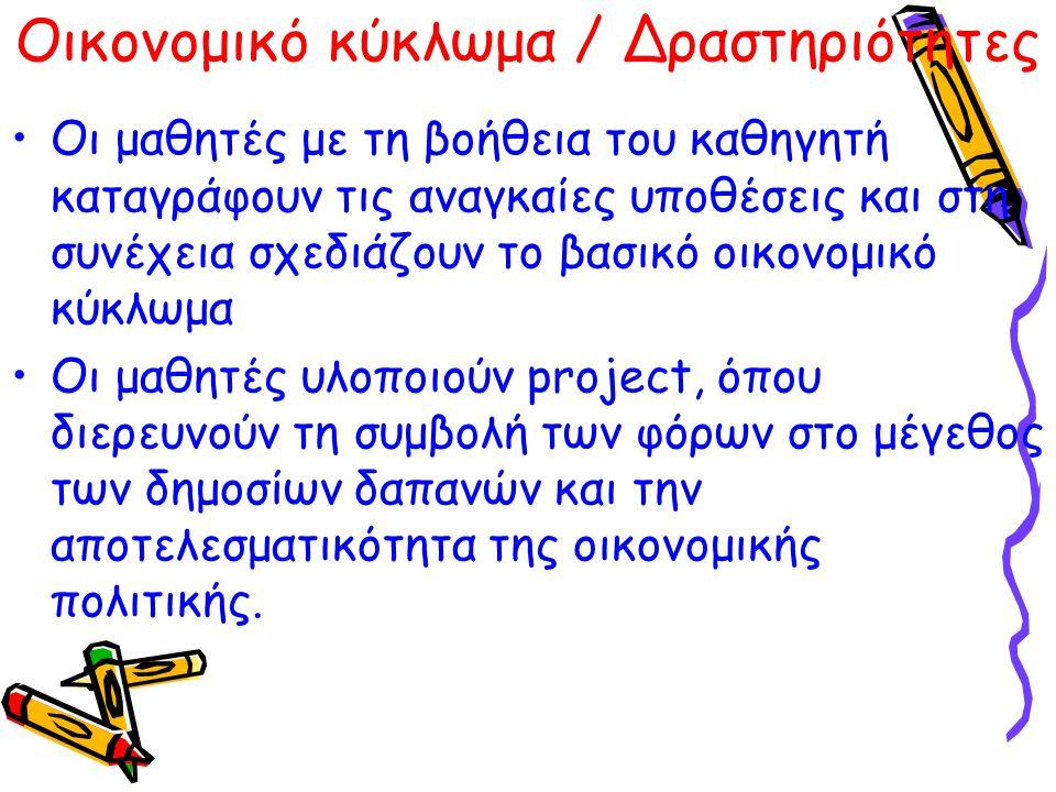 Οικονομικό κύκλωμα / Δραστηριότητες