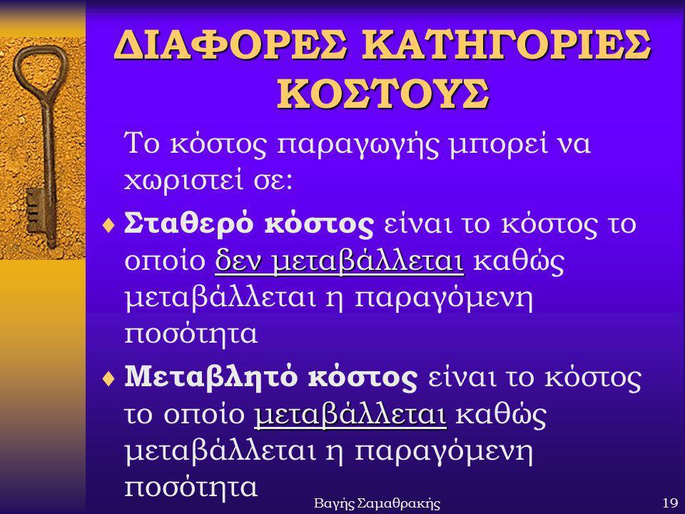 ΔΙΑΦΟΡΕΣ ΚΑΤΗΓΟΡΙΕΣ ΚΟΣΤΟΥΣ