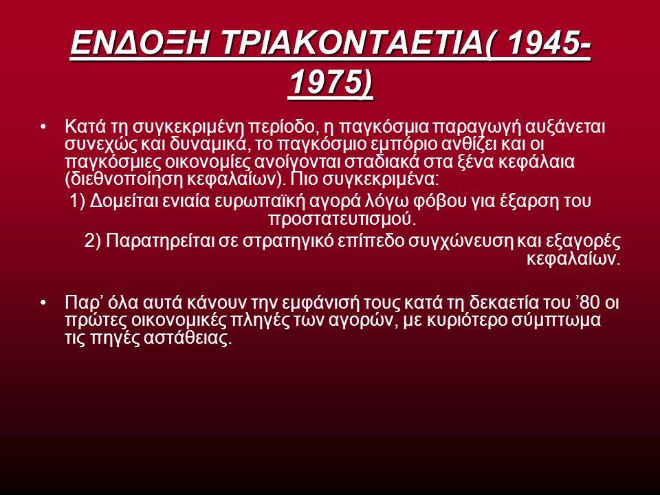 ΕΝΔΟΞΗ ΤΡΙΑΚΟΝΤΑΕΤΙΑ( 1945-1975)