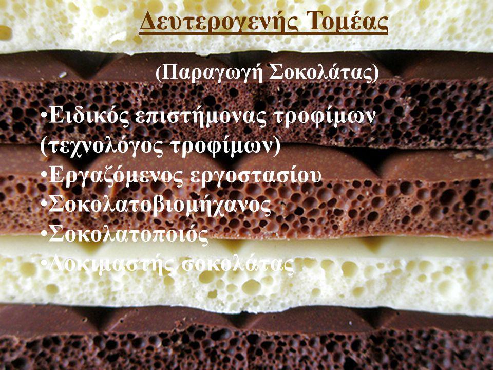 Δευτερογενής Τομέας (Παραγωγή Σοκολάτας)