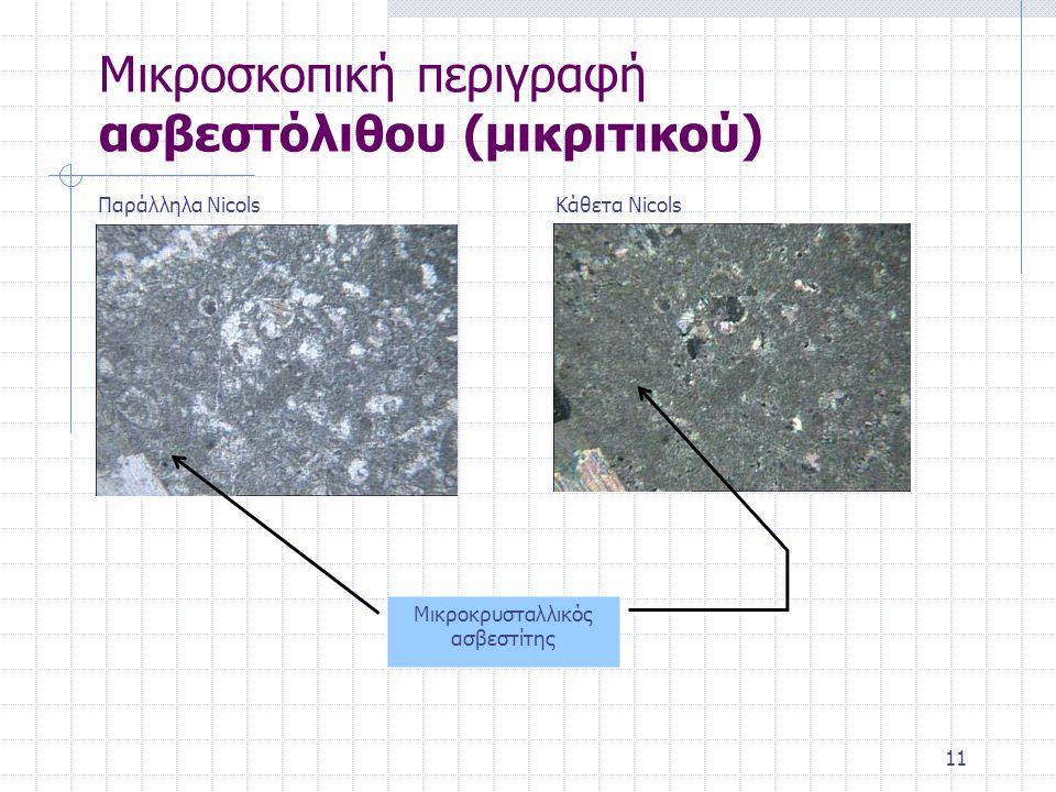 Μικροσκοπική περιγραφή ασβεστόλιθου (μικριτικού)