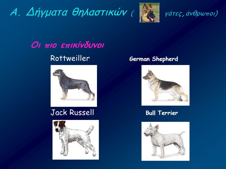 Α. Δήγματα θηλαστικών ( γάτες,άνθρωποι)