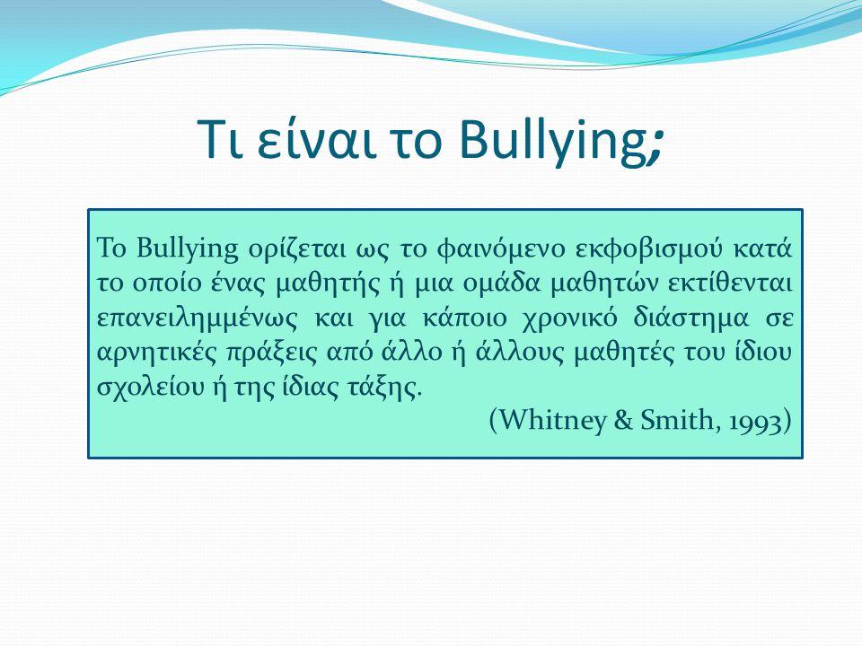 Τι είναι το Bullying;