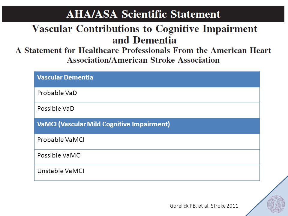 VaMCI (Vascular Mild Cognitive Impairment) Probable VaMCI