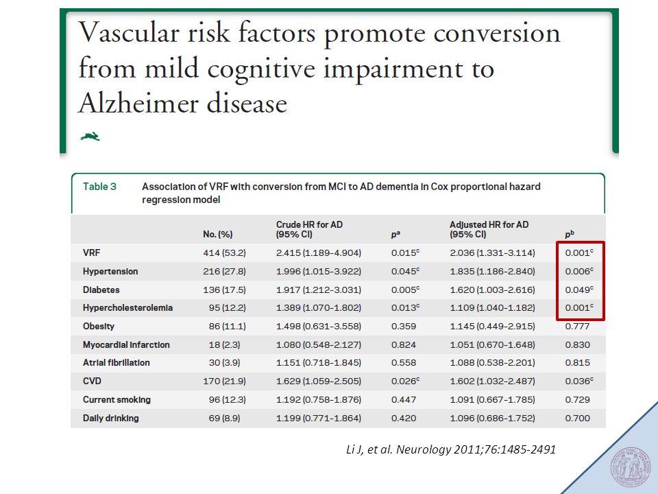 Li J, et al. Neurology 2011;76:1485-2491