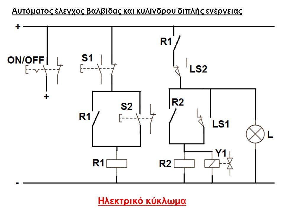 Αυτόματος έλεγχος βαλβίδας και κυλίνδρου διπλής ενέργειας
