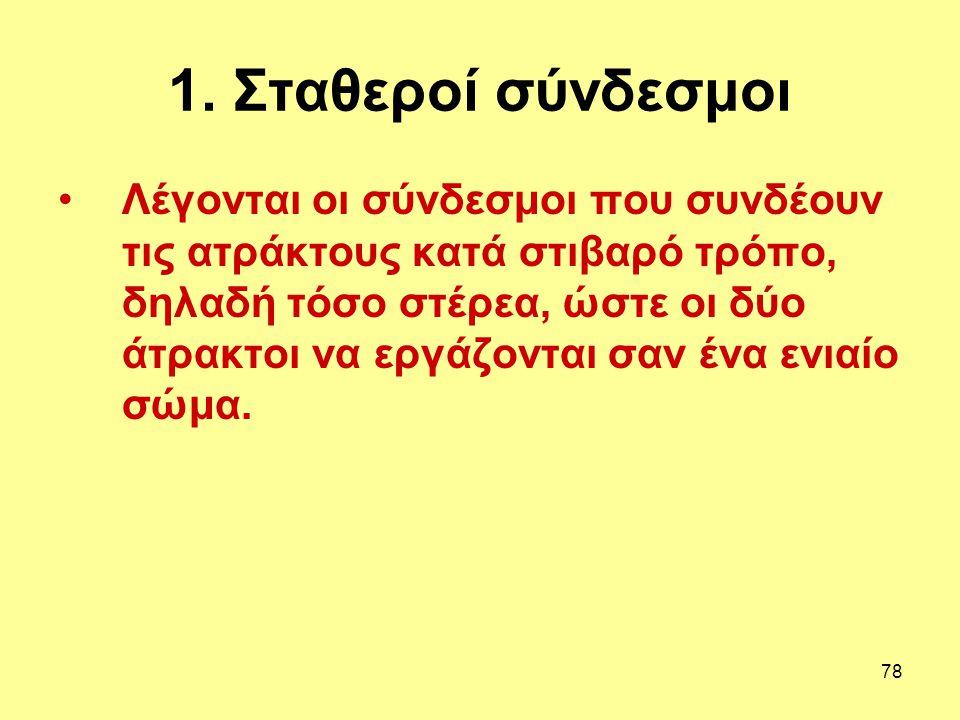 1. Σταθεροί σύνδεσμοι