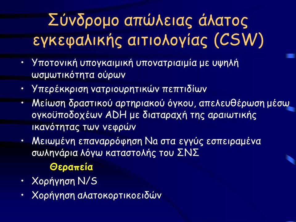 Σύνδρομο απώλειας άλατος εγκεφαλικής αιτιολογίας (CSW)