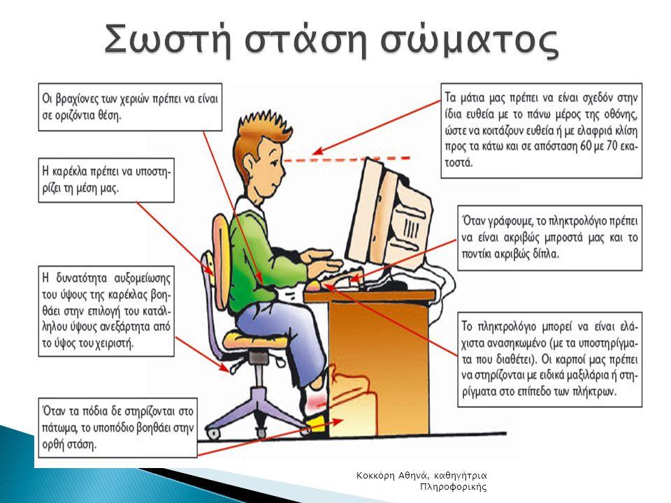 Σωστή στάση σώματος Κοκκόρη Αθηνά, καθηγήτρια Πληροφορικής