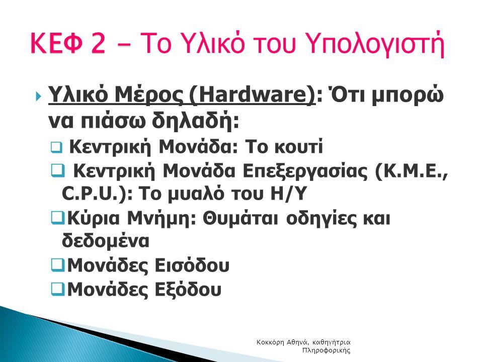 ΚΕΦ 2 - Το Υλικό του Υπολογιστή