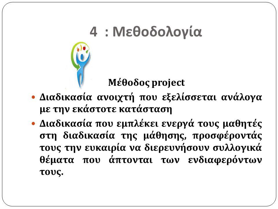 4 : Μεθοδολογία Μέθοδος project