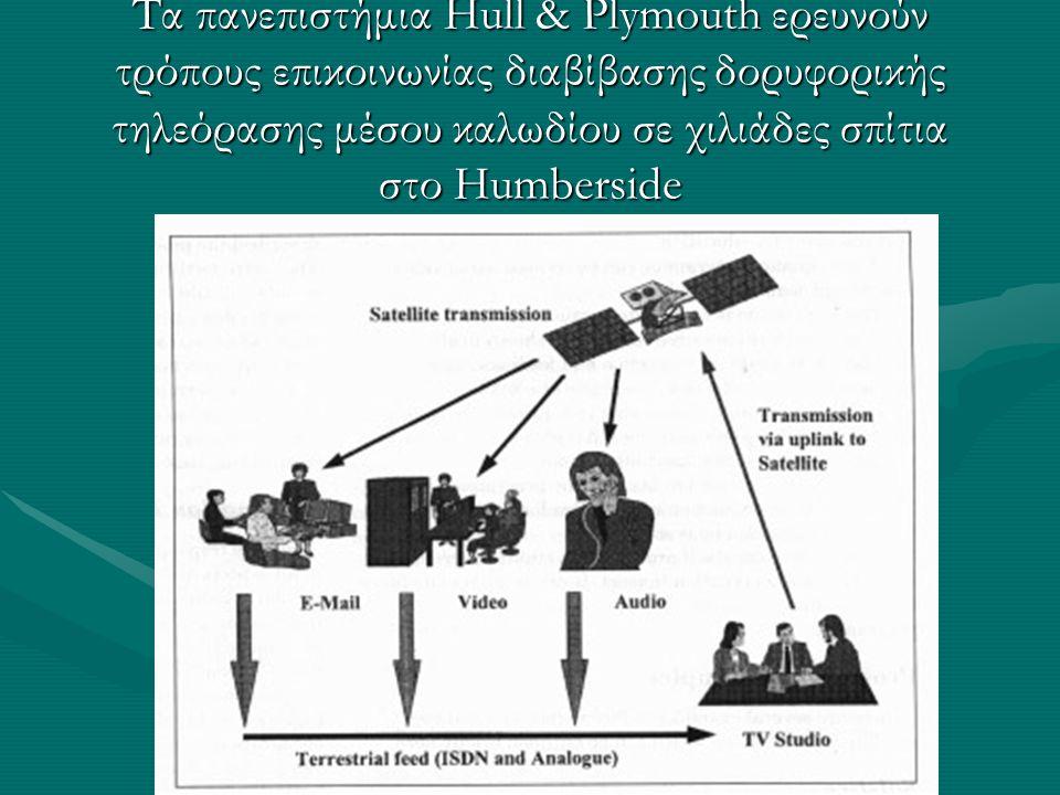 Τα πανεπιστήμια Hull & Plymouth ερευνούν τρόπους επικοινωνίας διαβίβασης δορυφορικής τηλεόρασης μέσου καλωδίου σε χιλιάδες σπίτια στο Humberside