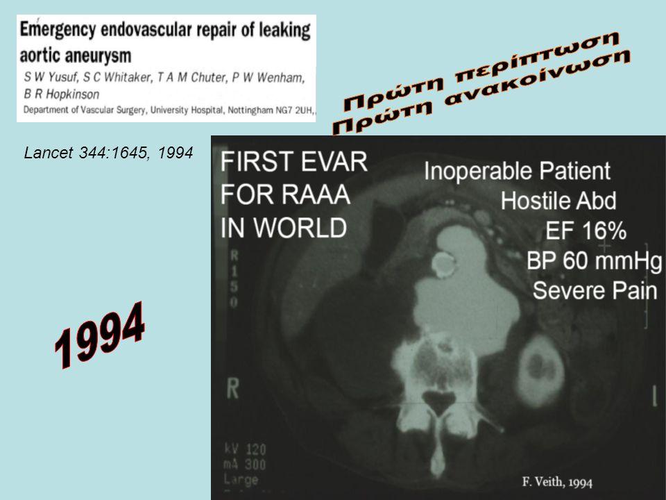 Πρώτη περίπτωση Πρώτη ανακοίνωση Lancet 344:1645, 1994 1994