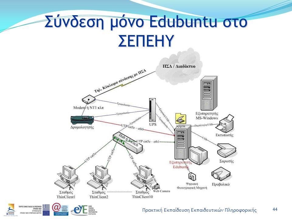Σύνδεση μόνο Edubuntu στο ΣΕΠΕΗΥ