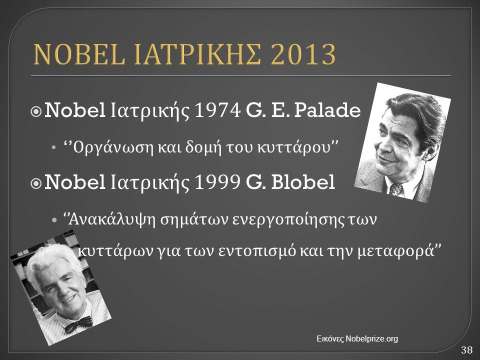 NOBEL ΙΑΤΡΙΚΗΣ 2013 Nobel Ιατρικής 1974 G. E. Palade