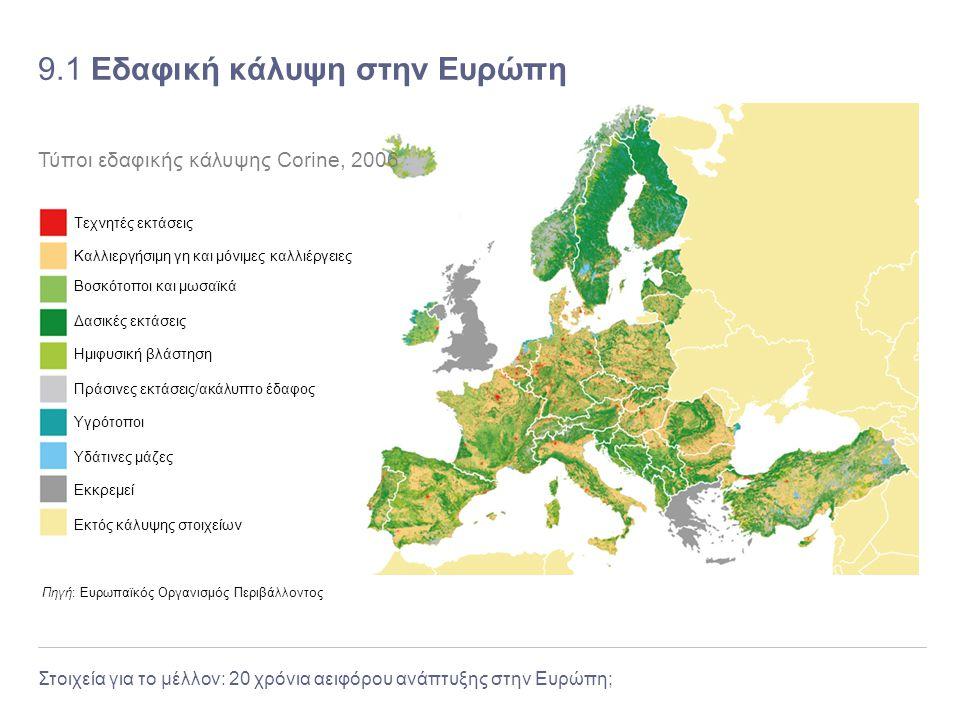 9.1 Εδαφική κάλυψη στην Ευρώπη