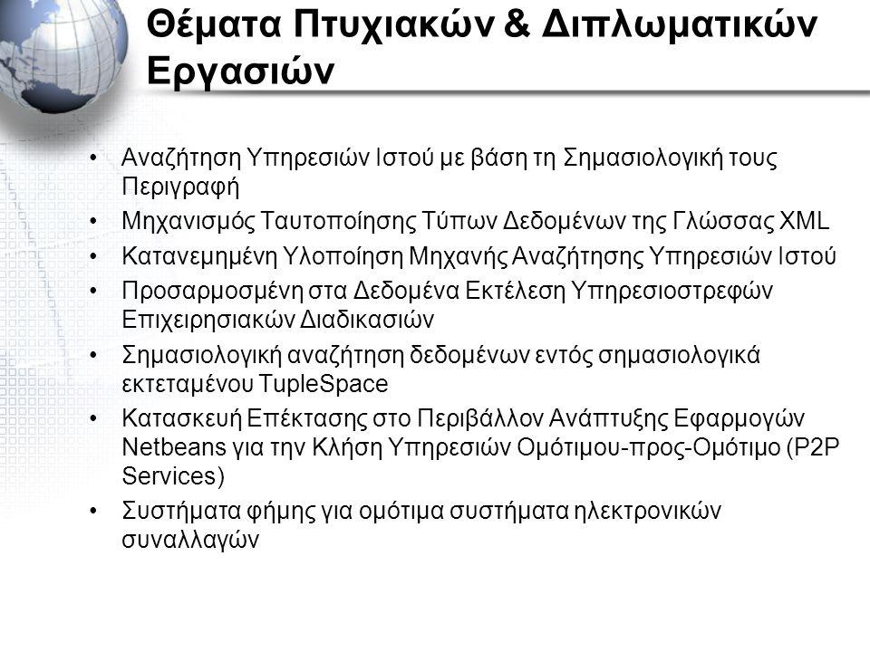 Θέματα Πτυχιακών & Διπλωματικών Εργασιών