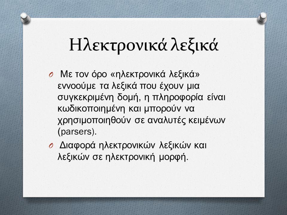 Ηλεκτρονικά λεξικά