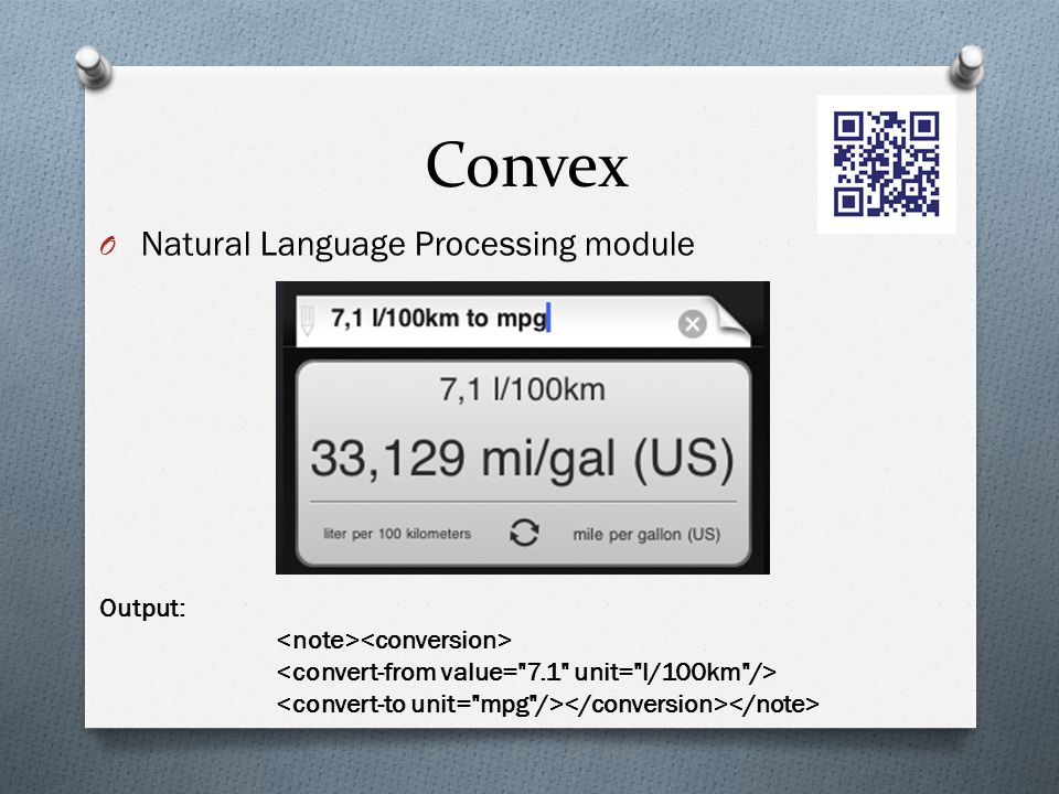 Convex Natural Language Processing module Output: