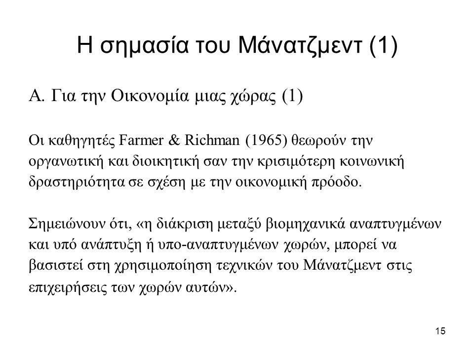 Η σημασία του Μάνατζμεντ (1)