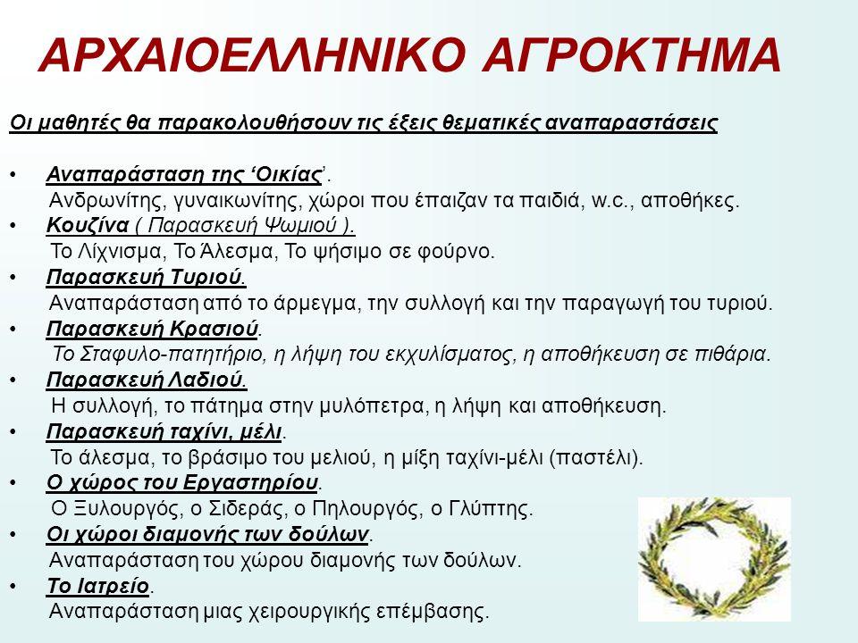 ΑΡΧΑΙΟΕΛΛΗΝΙΚΟ ΑΓΡΟΚΤΗΜΑ