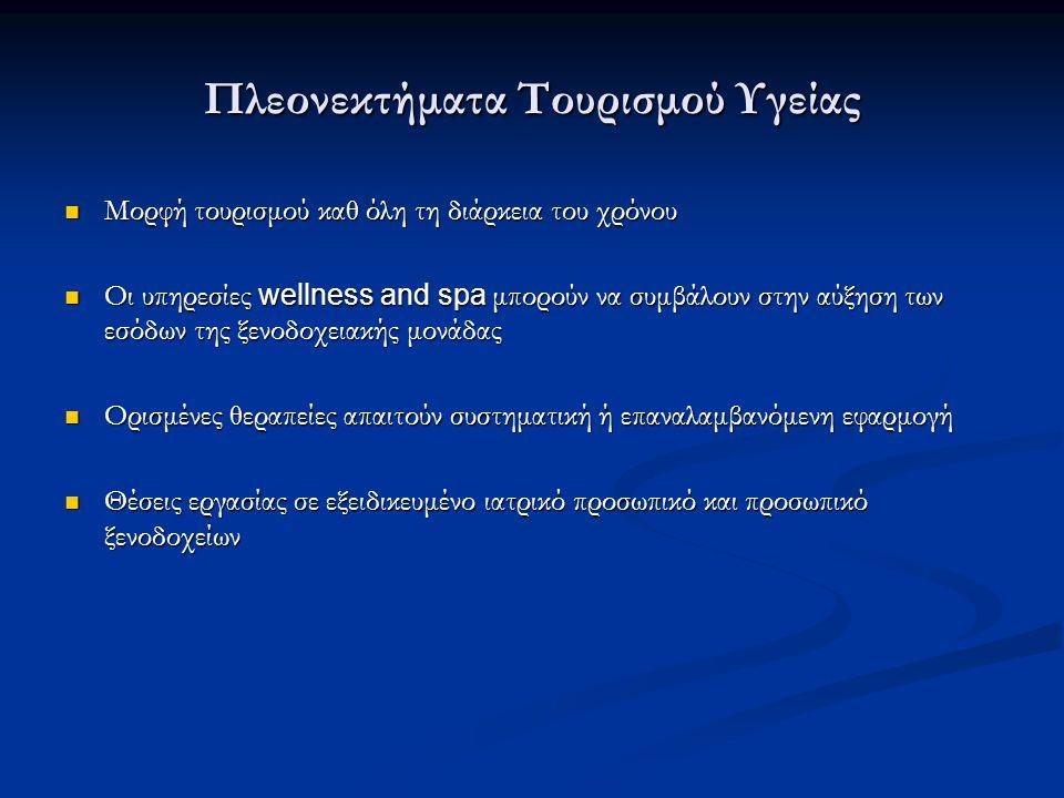 Πλεονεκτήματα Τουρισμού Υγείας