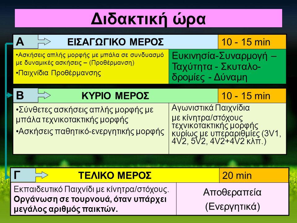 Διδακτική ώρα Α Β Γ ΕΙΣΑΓΩΓΙΚΟ ΜΕΡΟΣ 10 - 15 min