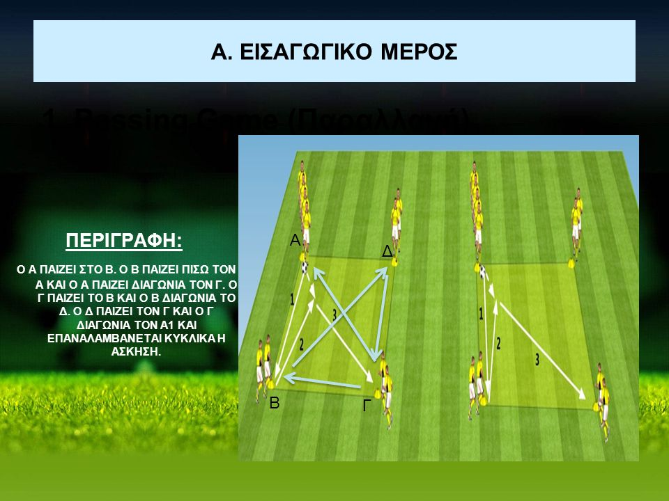 1. Passing Game (Παραλλαγή)