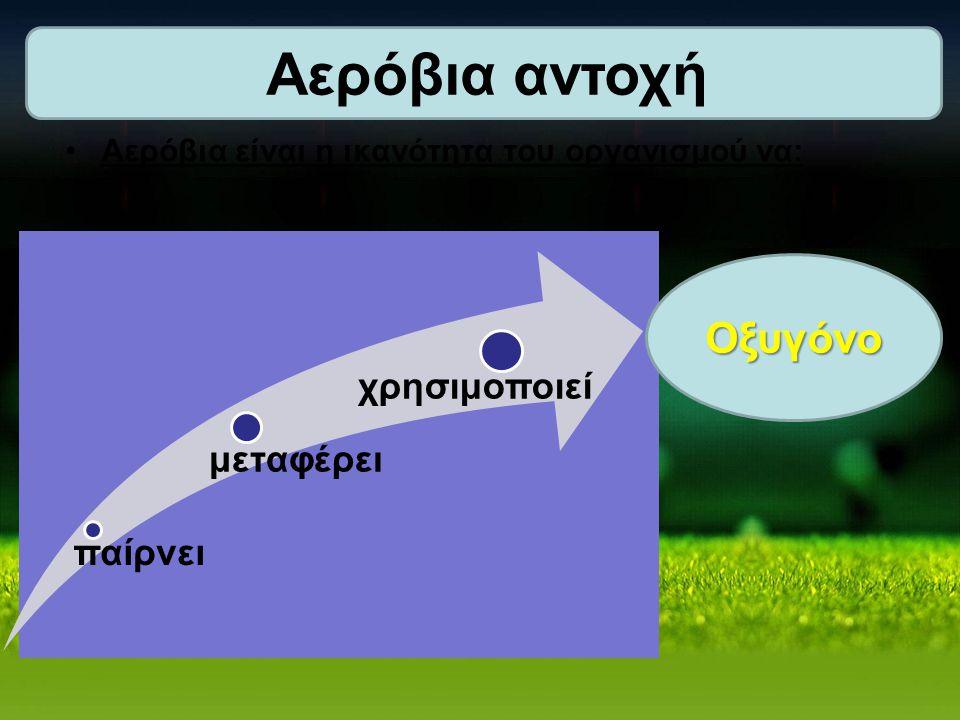 Αερόβια αντοχή Οξυγόνο χρησιμοποιεί μεταφέρει παίρνει
