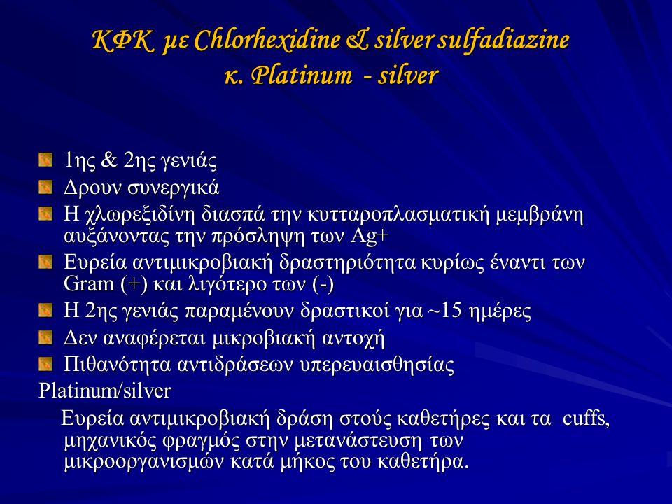 ΚΦΚ με Chlorhexidine & silver sulfadiazine κ. Platinum - silver