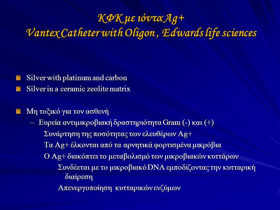 ΚΦΚ με ιόντα Ag+ Vantex Catheter with Oligon , Edwards life sciences