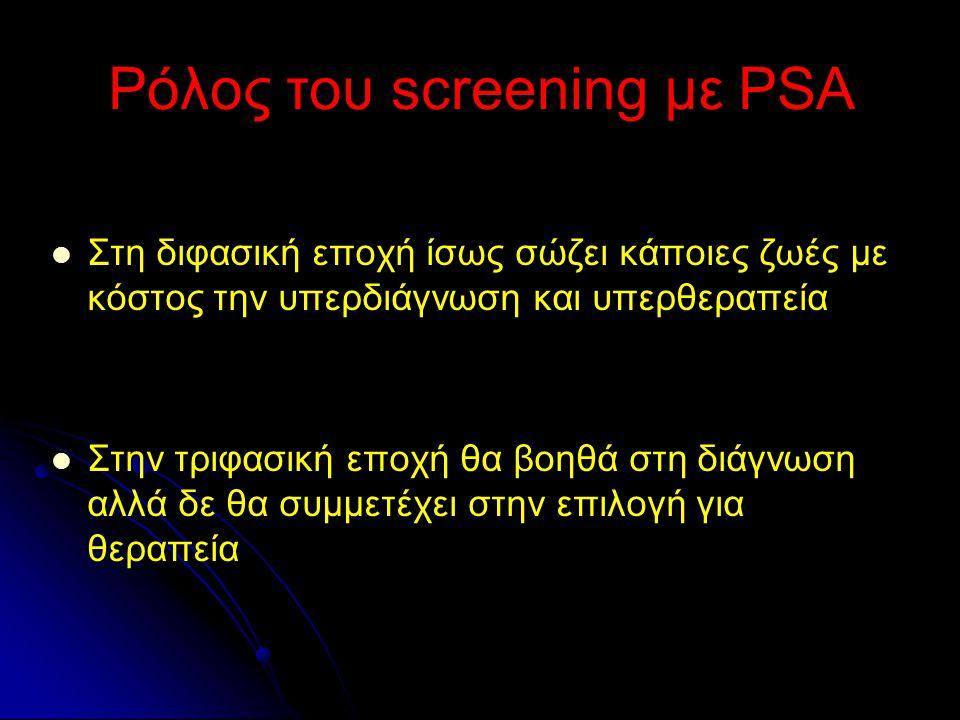 Ρόλος του screening με PSA