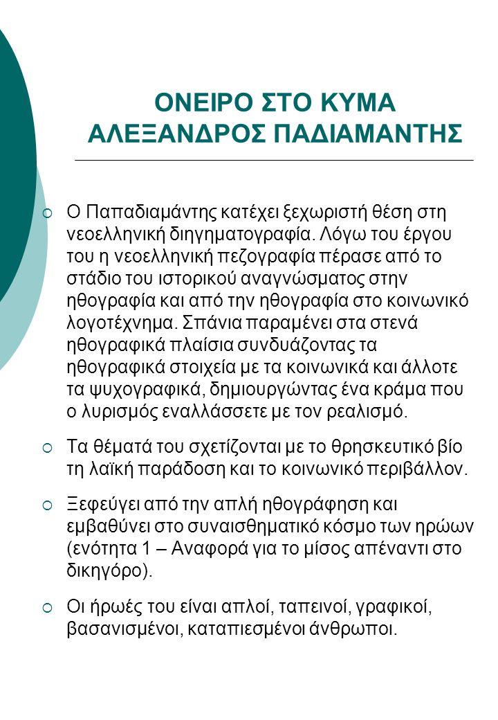 ΟΝΕΙΡΟ ΣΤΟ ΚΥΜΑ ΑΛΕΞΑΝΔΡΟΣ ΠΑΔΙΑΜΑΝΤΗΣ