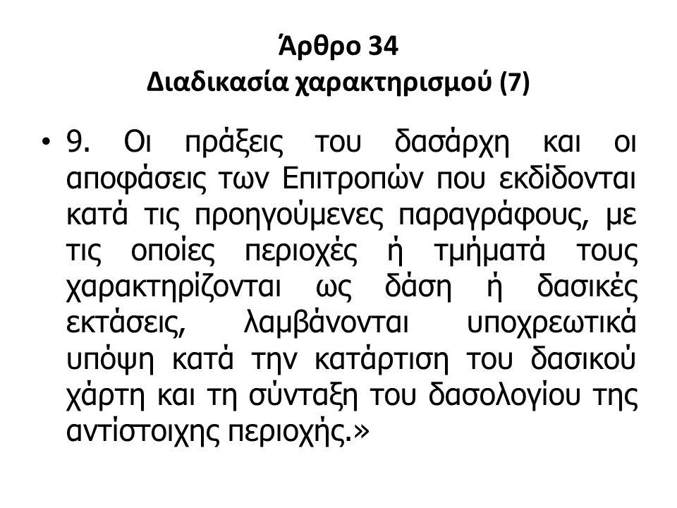 Άρθρο 34 Διαδικασία χαρακτηρισμού (7)