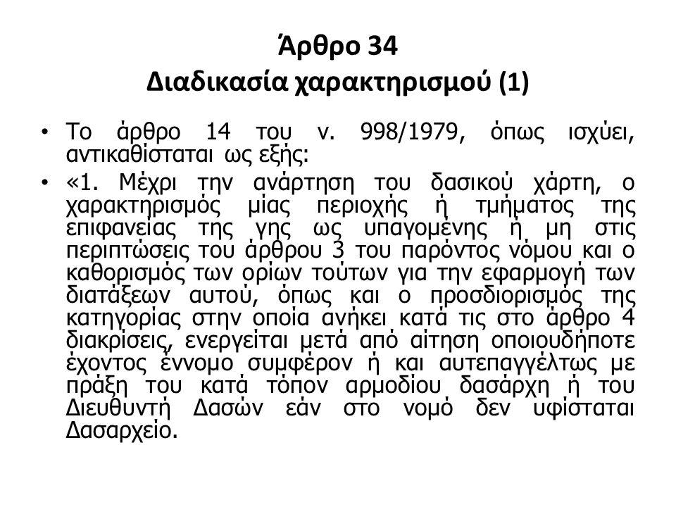 Άρθρο 34 Διαδικασία χαρακτηρισμού (1)